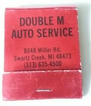 Double M Auto Service Swartz Creek MI Automotive Matchbook Advertising U... - $7.91