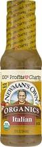 Newman's Own Organics Italian Salad Dressing, 12-oz. Pack of 6