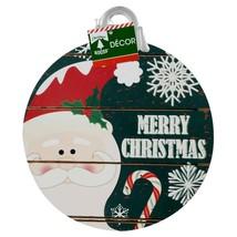 Christmas House Hanging Ornament-Shaped Merry Christmas Santa Sign 10.25... - $5.99