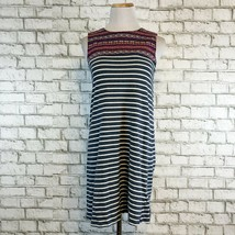 THML Anthropologie Women's Striped Embroidered Tunic Dress Size XS Extra... - $26.99