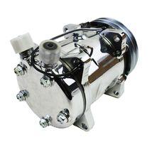 A-Team Performance Sanden 508 Style Silver Clutch V-Belt A/C Compressor, Chrome image 6