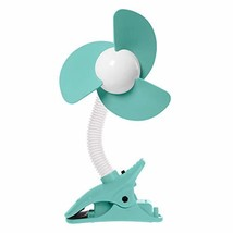 EZY-FIT Clip ON Stroller Fan Aqua/White