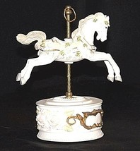 Horse Carousel Music Box (1980's) Works AA18 - 1089 Vintage