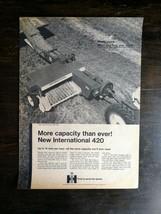 Vintage 1969 International Harvester 420 Bailer Full Page Original Ad - $6.64