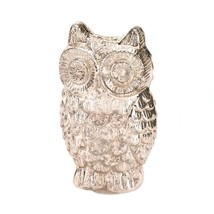 Figurines Decor, Quilted Owl Glass Collectibles Decorative Figurine Decor - $25.39