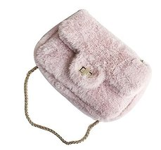 Fashion Plush Shoulder Bags, Perfect for Autumn & Winter [Pink] - £18.91 GBP