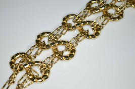 Vtg Gold Tone Castlecliff Infinity Chain Link Clasp Bracelet - $49.50