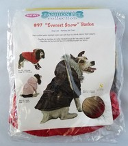 Dog Coat Jacket Everest Snow Parka Signature Fashion Pet Collection Size... - $30.82