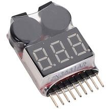 Battery Voltage 2 IN 1 Tester Low Voltage Buzzer Alarm For 1 8S Lipo/Li ... - $7.80