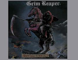 Grim Reaper T-shirt 1980s Heavy Metal Retro Rock 100% cotton grey graphic tee image 2