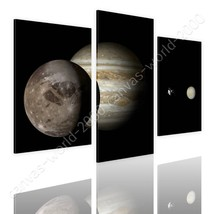 CANVAS (Rolled) Jupiter & Moon Split 3 Panels 3 Panels Oil Painting Prin... - $22.06+