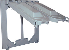 Sigma  Square  Aluminum  2 gang Weatherproof Cover  For Wet Locations Gray - $6.99