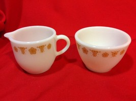 Vintage Corelle Butterfly Cream & Sugar Set Without Glass Lid Corning - $10.03