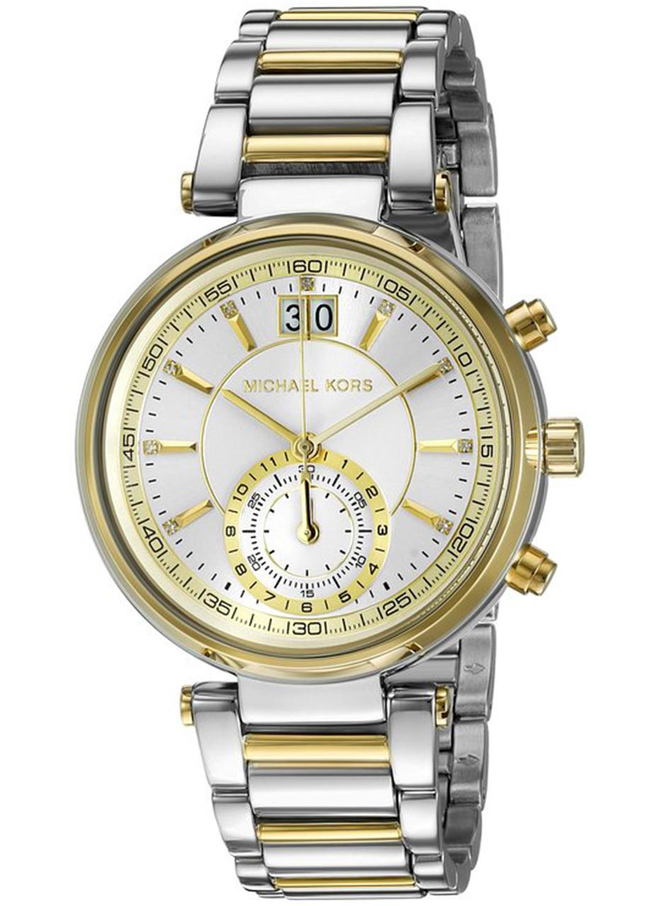 Michael Kors MK6225 Sawyer Silver Dial Two-tone Ladies Watch