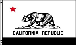 B & W CALIFORNIA STATE 3 X 5  FLAG banner FL724 NEW large polyester new 3x5 - $6.27