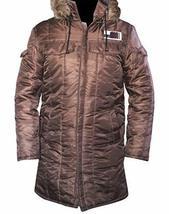 Harrison Ford Star Wars Han Solo Windbreaker Brown Parachute Parka Jacket Coat image 1