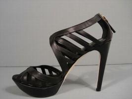 Fendi Black Cut Out Leather Platform Sandals Authentic Luxury Booties 37.5/7 New - $594.69