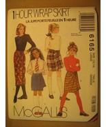UNCUT Sewing Pattern 1991 McCALL'S Size 8,10,12,14 SKIRT 6165 [Z180] - $4.51