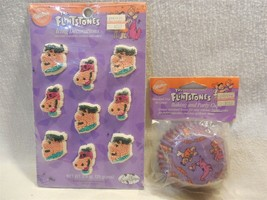 Flintstones 1994 Wilton Cupcake Baking Cups/Papers & Icing Decorations F... - $5.95