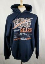 Chicago Bears 100 Years Hoodie Sweatshirt XL Navy Payton Halas Ditka Butkus NFL - $23.69