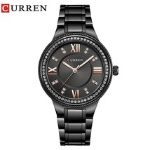 CURREN Fashion Black Women Watches 9004 High Quality Ultra thin Quartz Watch Wom - $34.82