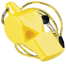 YELLOW Fox 40 PEARL Whistle Offiziell Coach Safety Alert Rescue FREE LAN... - $6.82