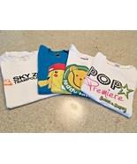 Girl's Lot Of 4 Short Sleeve Screen Printed T-Shirts (6-8) - $11.30
