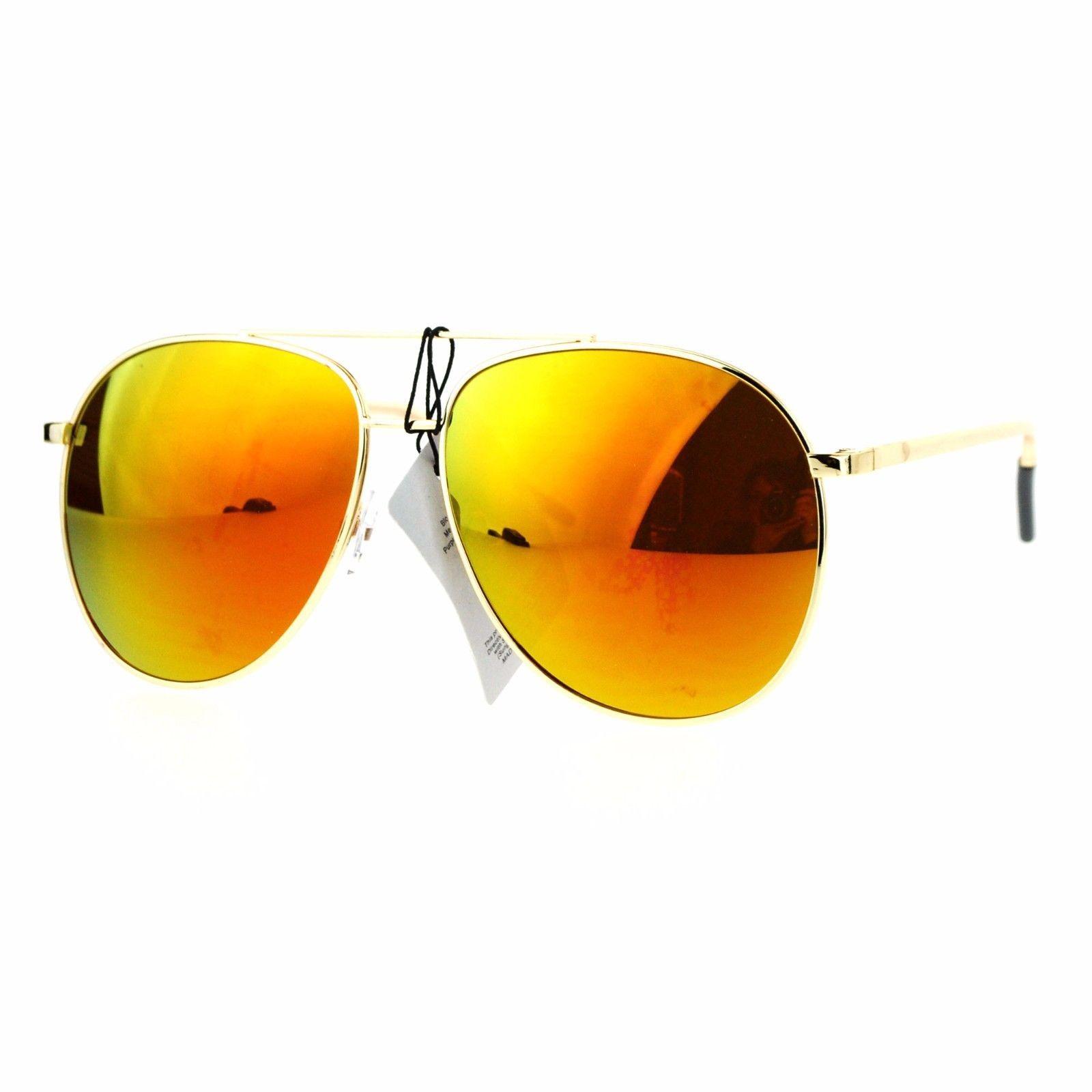 Fashion Aviator Sunglasses Vintage Driver Aviators Metal Frame UV 400