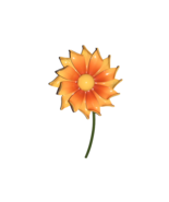 Yellow and Orange Brooch - $17.82