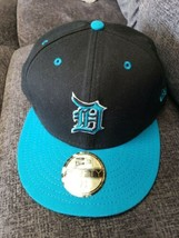 New Mlb Detroit Tigers Turquoise Black New Eta 59FIFTY 7 1/2 Baseball Cap Hat - $19.19