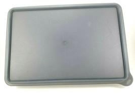 Tupperware 9 x 13 Rectangle Storage Container Grey Lid Deli Cold Cut Bacon - $9.88