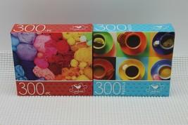"Cardinal Jigsaw Puzzle 300 Piece Rainbow Yarns/Colorful Coffee Cups 14"" ... - $12.46"