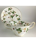 Wedgwood Wild Strawberry Cream soup bowl & saucer  - $35.00