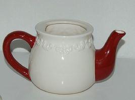 Bella Casa by Ganz Christmas Teapot mug Set White Dark Red image 3