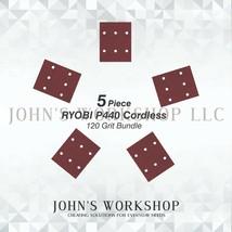 RYOBI P440 Cordless - 1/4 Sheet - 120 Grit - No-Slip - 5 Sandpaper Bundle - $7.92