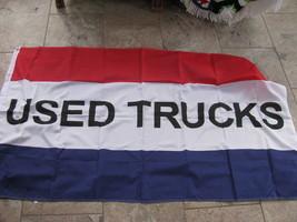 Flag 3X5 USED TRUCKS flag banner for car dealers - $9.88