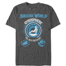 Jurassic World Roll With Triceratops Mens Graphic T Shirt - $10.99