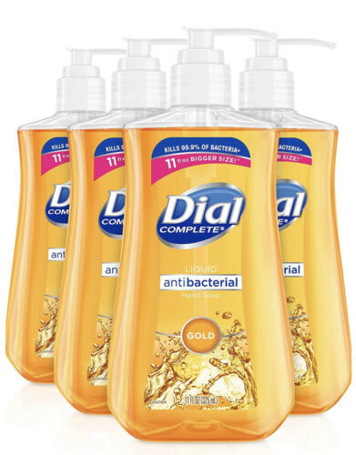 Primary image for 4 Pack Dial Antibacteral Liquid Hand Soap Gold 4 x 11oz FREE SHIPPING!