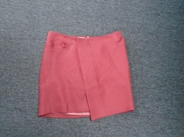 SEE BY CHLOE Strawberry Red Cotton Lined Wrap Front Mini Skirt Size 6 DD... - $106.91