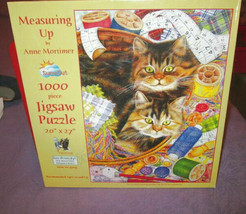 """Anne Mortimer Cats & Threads Puzzle 1000 Piece Playful Jigsaw Suns Out 20"""" X 27"""" - $9.53"""