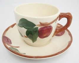 Franciscan Apple Cup and Saucer Set Flying F Mark Made in USA 1980s - $8.90