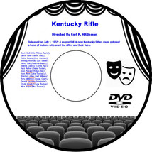 Kentucky Rifle 1955 DVD Movie  Chill Wills Lance Fuller Cathy Downs Ster... - $3.99