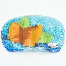 Fused Art Glass Rustic Forest Pinecone Design Soap Dish Handmade in Ecuador image 2