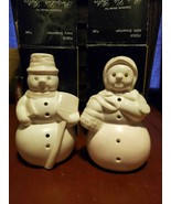 Two snowmen cute snowman couple Party Lite Gifts Original Boxes holiday ... - $19.86