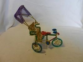 "Hand Made Pedicab Rickshaw Figurine Multi Color, 6"" Tall - $18.55"