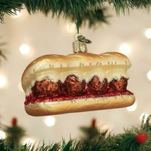 Old World Christmas Meatball Sandwich Sub Comfort Food Glass Xmas Ornament 32384 - $16.88