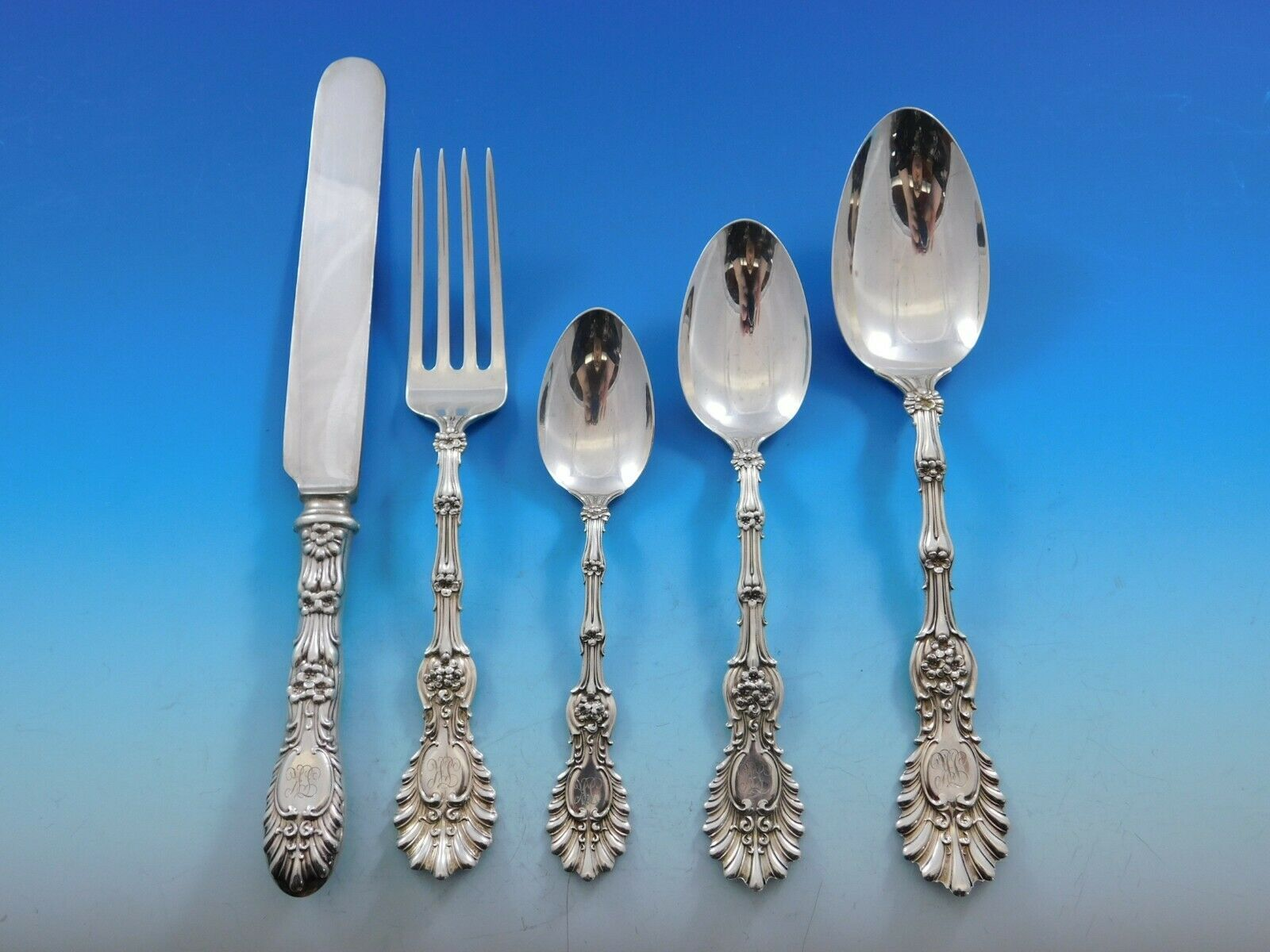 Primary image for Radiant by Whiting Sterling Silver Flatware Set Dinner Service w/ Vintage Chest