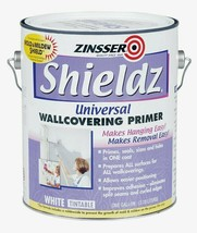 Zinsser Shieldz Universal WHITE Wallcovering Primer 1 gal. Ready-To-Use ... - $34.19