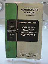 Operator's Manual, John Deere, Van Brunt Model CC Cultivator, old, 1950's - $47.03