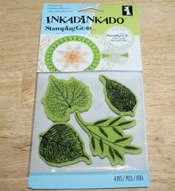 Inkadinkado    FOSSIL LEAVES    Stamping Gear ~ Cling Stamps  SEALED  NIP - $4.74